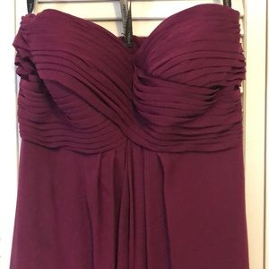 Bill Levkoff 82955 wine color gown/ bridesmaid